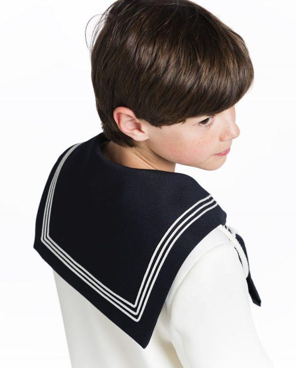traje de comunión marinero blanco timoneles