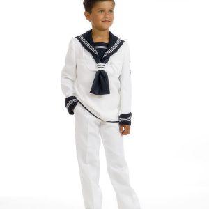Timoneles trajes de comunión de marinero para niños